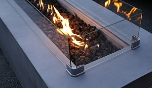 Rectangular Gas Fire Table (610H)