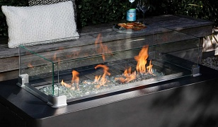 Obsidian Rectangular Gas Fire Table