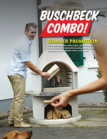 Elba Buschbeck Summer Combo Outdoor Fireplace